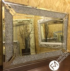 X Large Glitzy Diamond Crystal Mirror PREMIUM QUALITY - RRP £399 - GLITZ 1